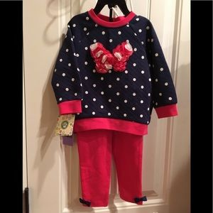 NWT  girls 2 Pc Set Little Me size 18 Months Sweet
